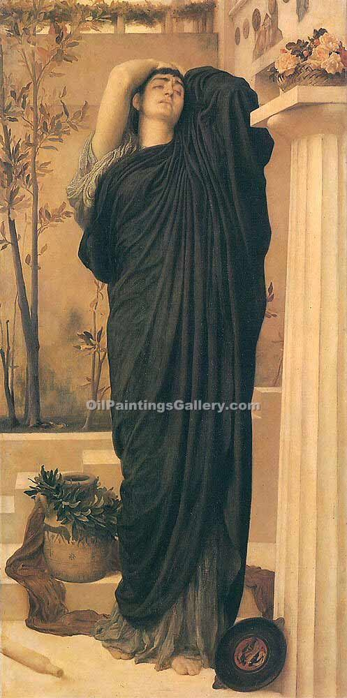 """Electra at the Tomb of Agamemnon"" by   Leighton Frederic"