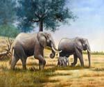 Elephants 58  (Painting ID: AN-2058-KA)