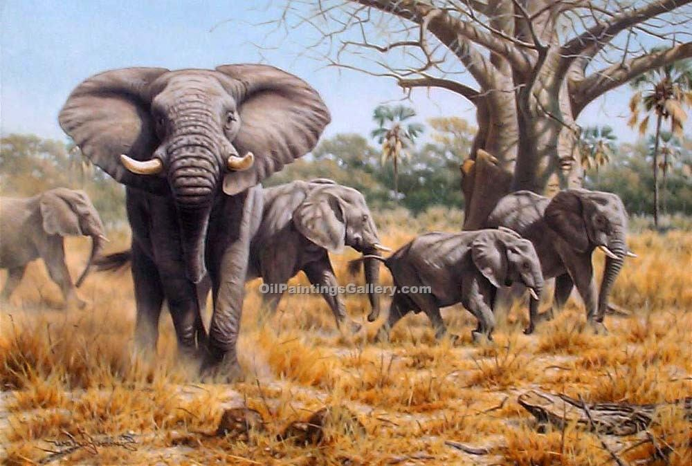 """Elephants in the Savannah"""