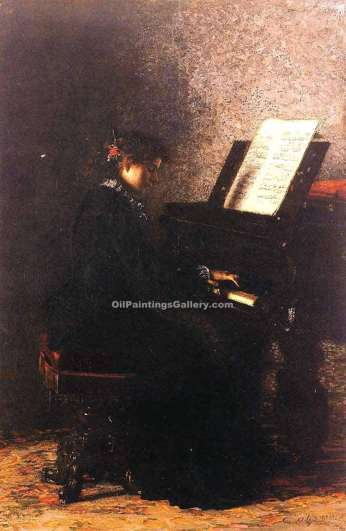 """Elizabeth at the Piano"" by  Thomas Eakins"
