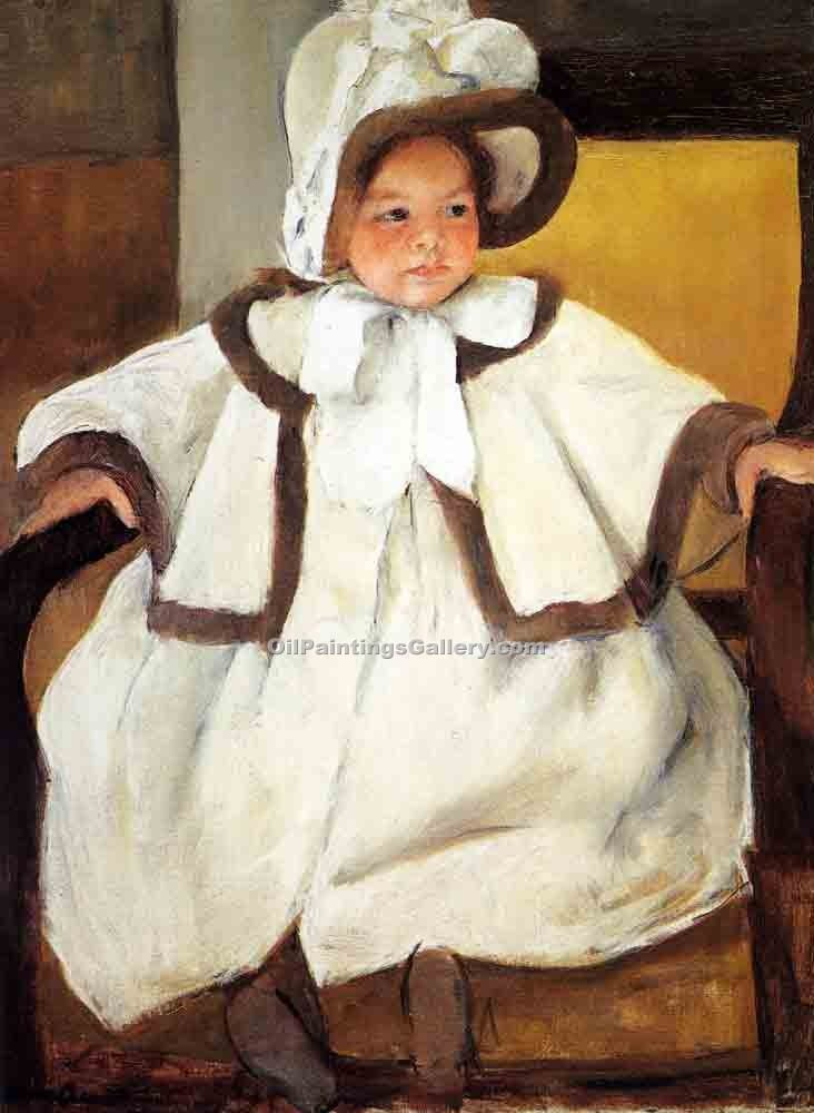 """Ellen Mary Cassatt in a White Coat"" by  Mary Cassatt"