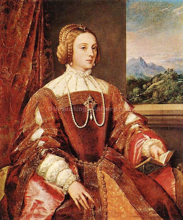 """Empress Isabel of Portugal"" by   Titian"