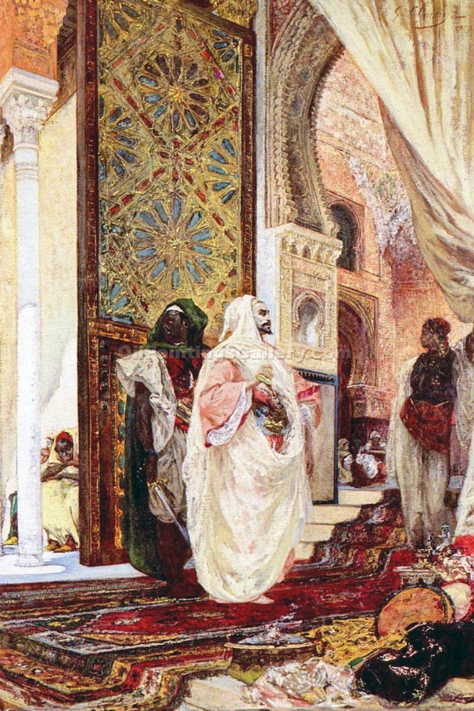 """Entering the Harem"" by  Georges Jules Victor Clairin"