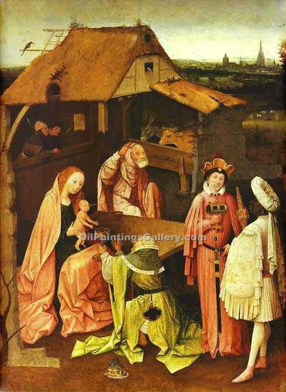 Epiphany by HieronymusBosch | Abstract Landscape Paintings - Oil Paintings Gallery