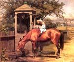 Equestrian portrait by  Seymour Joseph Guy (Painting ID: CL-4008-KA)