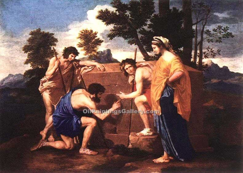 Et in Arcadia Ego by Poussin Nicolas | Modern Art Artists - Oil Paintings Gallery