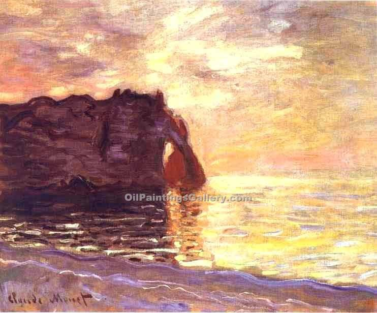"""Etretat the End of the Day"" by  Claude Monet"