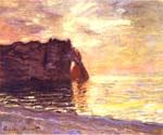 Etretat the End of the Day by  Claude Monet (Painting ID: MO-0921-KA)