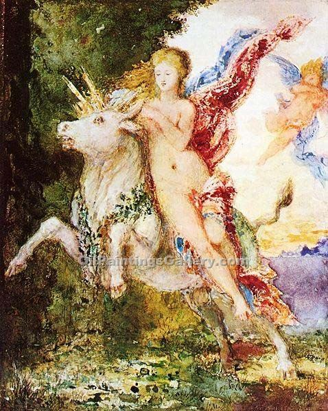 """Europa and the Bull"" by  Gustave Moreau"