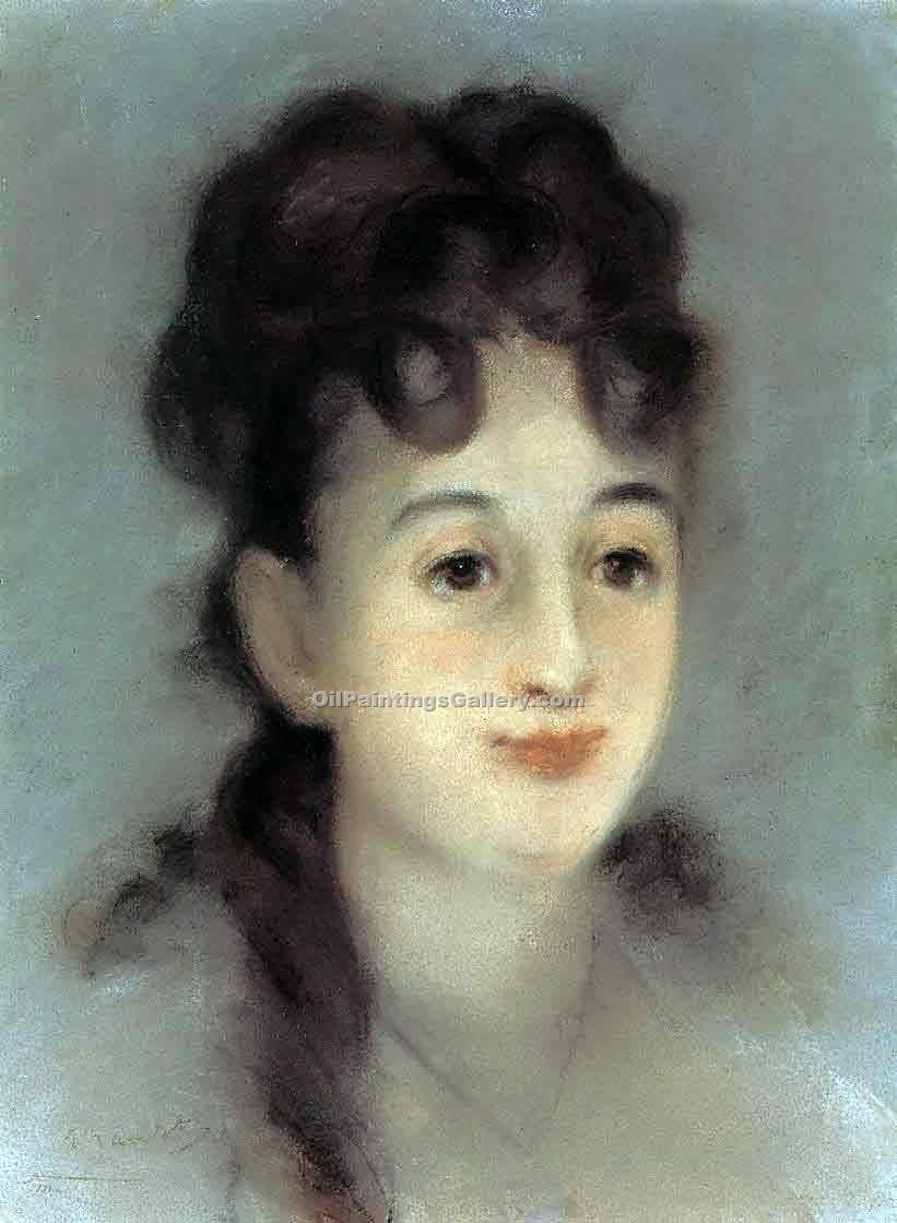 """Eva Gonzales"" by  Edouard Manet"
