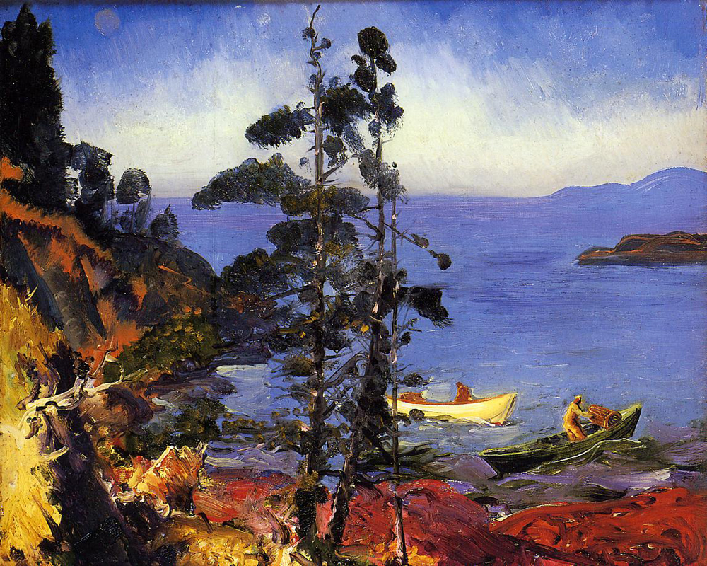 """Evening Blue"" by  George Bellows"