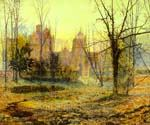 Evening, Knostrop Old Hall by  John Atkinson Grimshaw (Painting ID: LA-0240-KA)