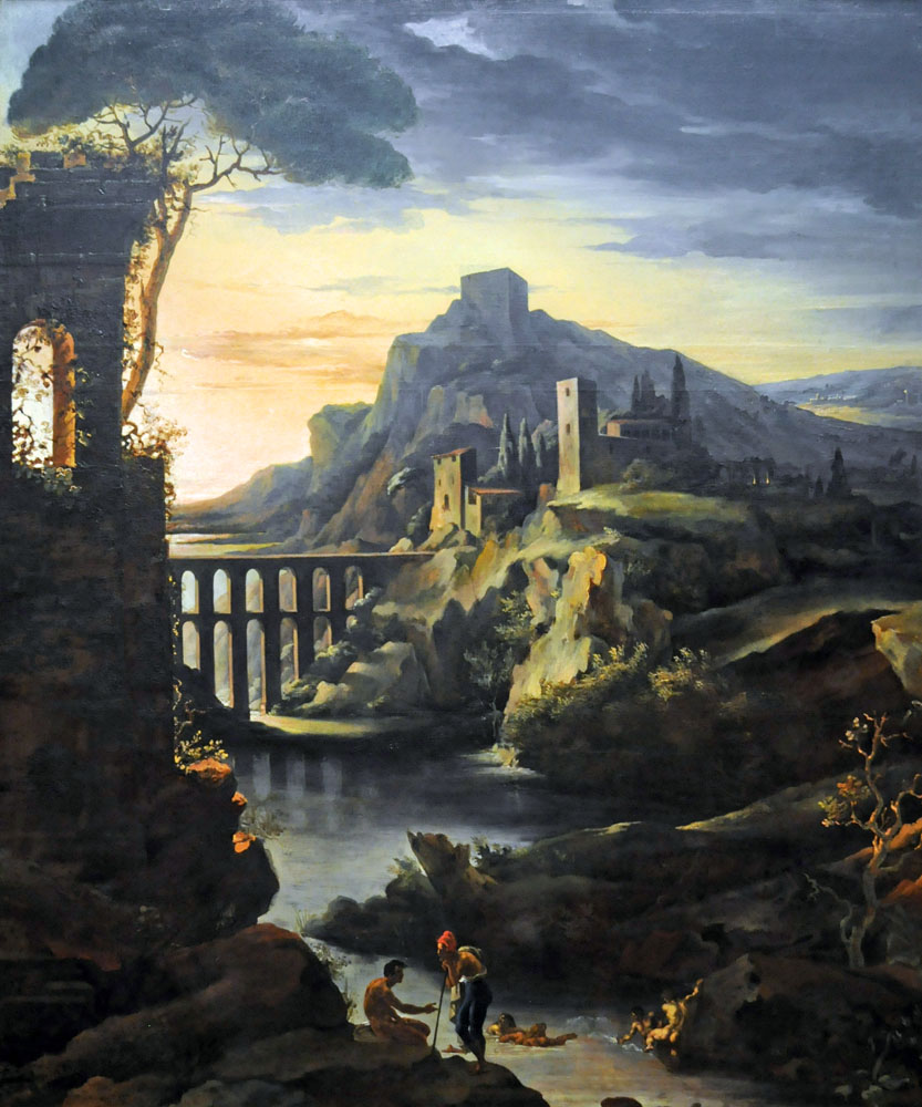 """Evening Landscape with an Aquaduct"" by  Theodore Gericault"