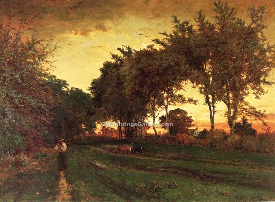 Evening Landscape by George Inness | Custom Made Paintings - Oil Paintings Gallery
