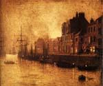 Evening, Whitby Harbour, North Yorkshire by  John Atkinson Grimshaw (Painting ID: LA-0228-KA)