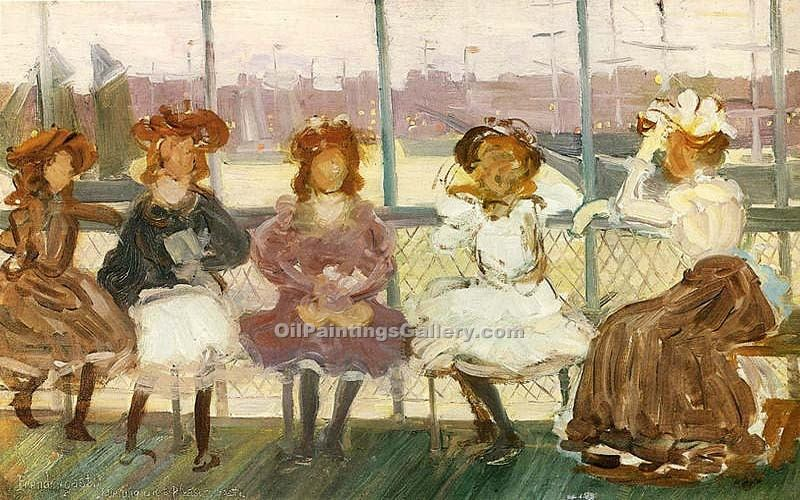 """Evening on a Pleasure Boat"" by  Maurice Brazil Prendergast"