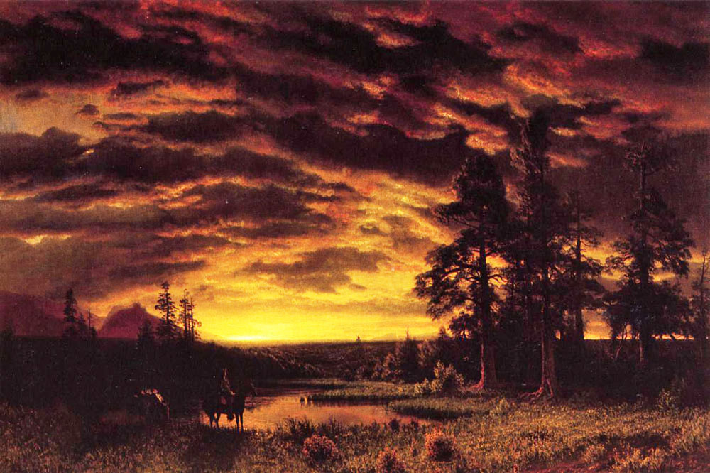 """Evening on the Prarie"" by  Albert Bierstadt"