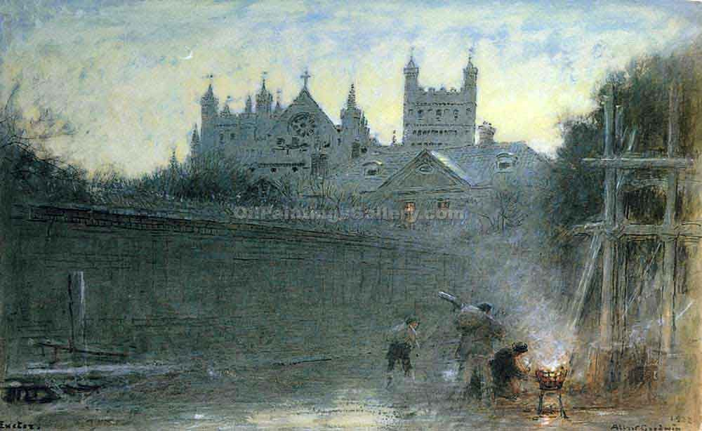 Exeleter New Hampshire by Albert Goodwin | Painting Artists - Oil Paintings Gallery