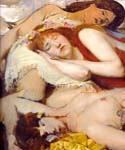 Exhausted Maenides after the Dance by  Sir Lawrence Alma Tadema (Painting ID: EI-1269-KA)