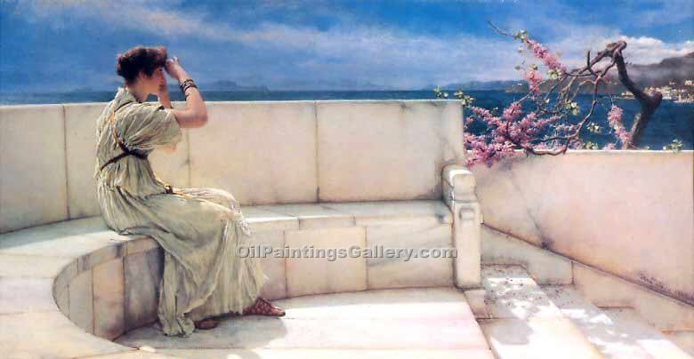 """Expectations"" by  Sir Lawrence Alma Tadema"