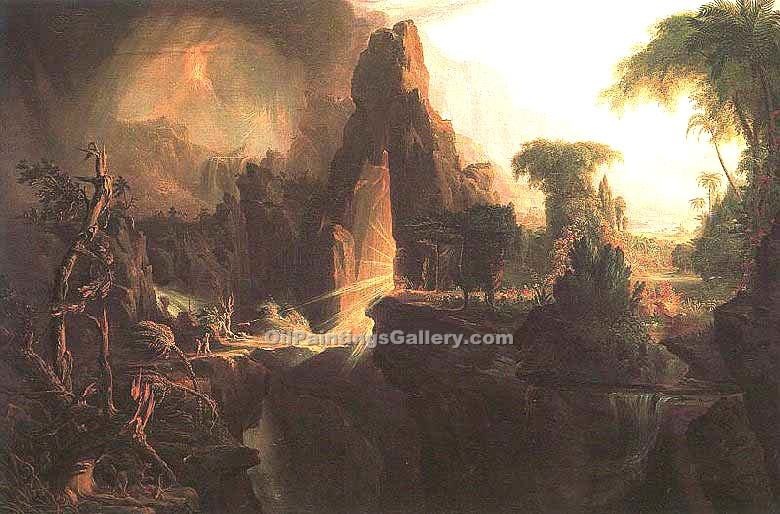expulsion from the garden of eden by thomas cole painting id la 5661 ka