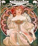 F Champenois Imprimeur Editeur by  Alphonse Maria Mucha (Painting ID: CL-2014-KA)
