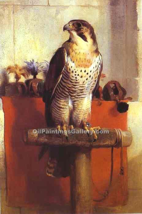 Falcon by Sir Edwin Henry Landseer | Handmade Oil Paintings - Oil Paintings Gallery
