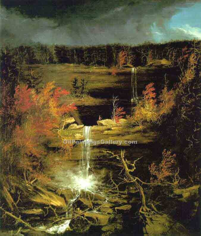 """Falls of Kaaterskil"" by  Thomas Cole"