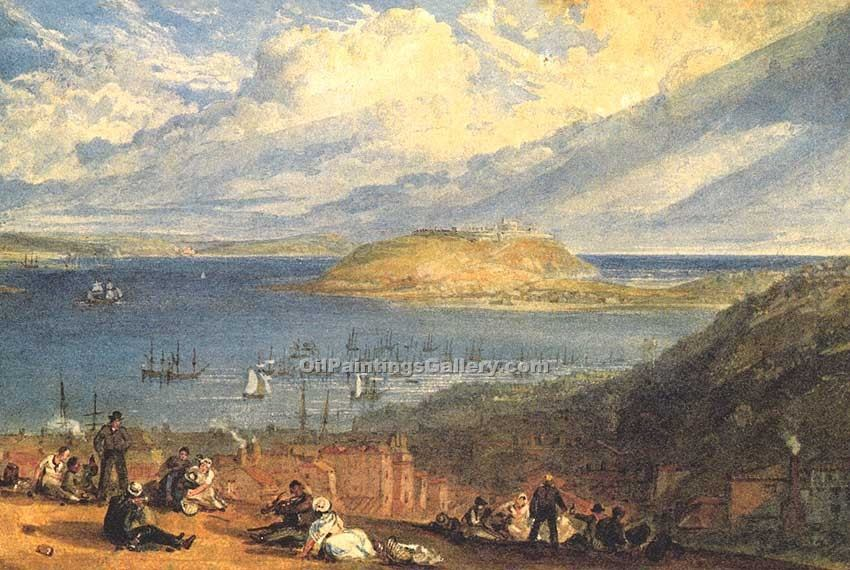 """Falmouth Harbour Cornwall"" by  William Turner"