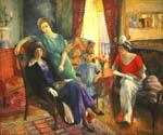 Family Group by  William Glackens (Painting ID: CL-3194-KA)