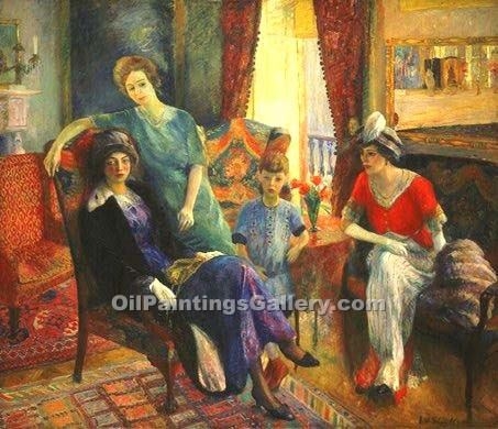 """Family Group"" by  William Glackens"