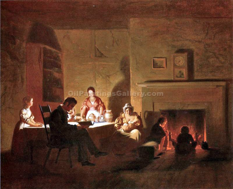 """Family Life on the Frontier"" by  George Caleb Bingham"