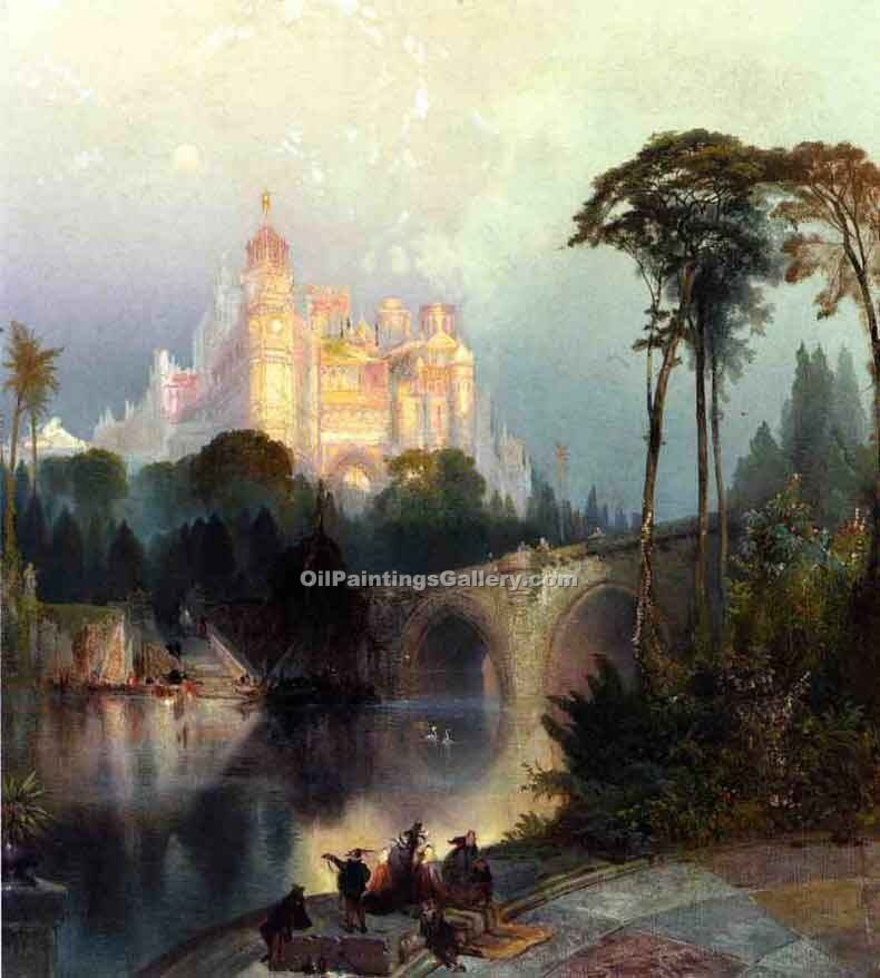 """Fantastic Landscape"" by  Thomas Moran"