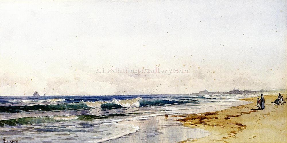 """Far Rockaway Beach"" by  Alfred Thompson Bricher"