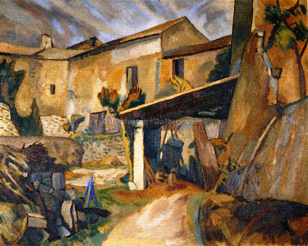 """Farm Buildings, France"" by  Roger Eliot Fry"