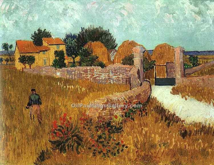 """Farmhouse in Provence 32"" by  Vincent Van Gogh"