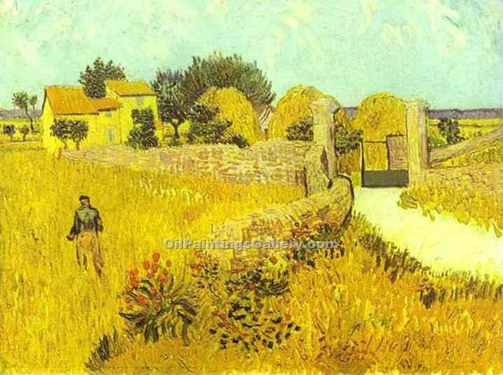 """Farmhouse in Provence 52"" by  Vincent Van Gogh"