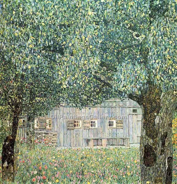 """Farmhouse in Upper Austria"" by  Gustav Klimt"