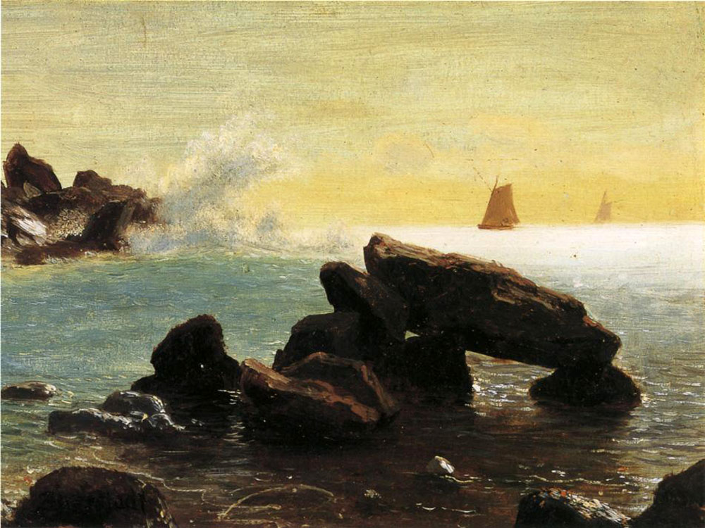 """Farralon Islands, California"" by  Albert Bierstadt"