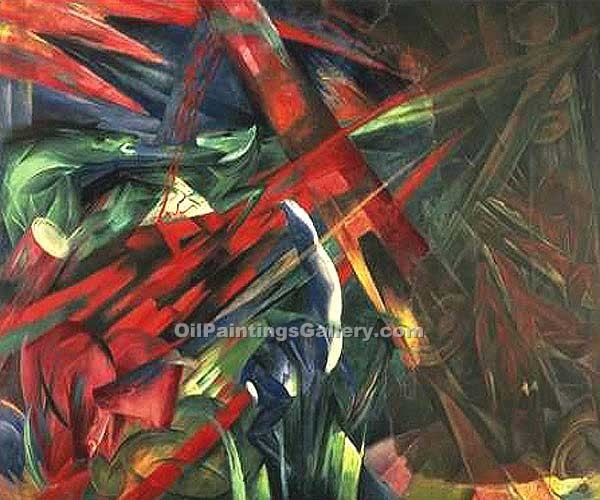 """Fate of the Animals"" by  Franz Marc"