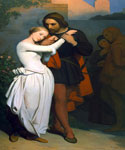 Faust and Marguerite in the Garden by  Ary Scheffer (Painting ID: CL-0214-KA)