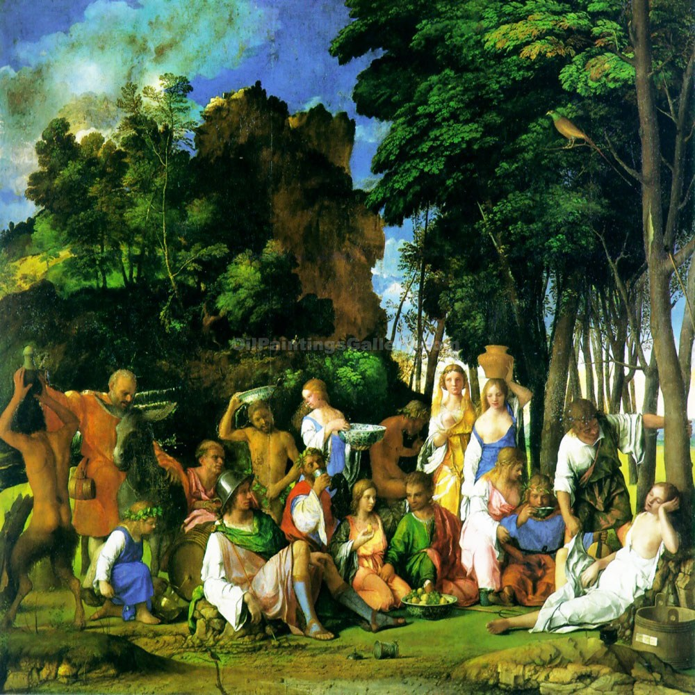 Feast of the Gods by Titian | Online Gallery - Oil Paintings Gallery