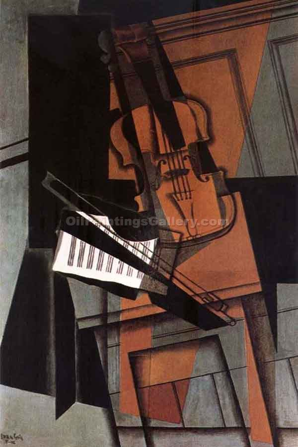 """Fiddle"" by  Juan Gris"