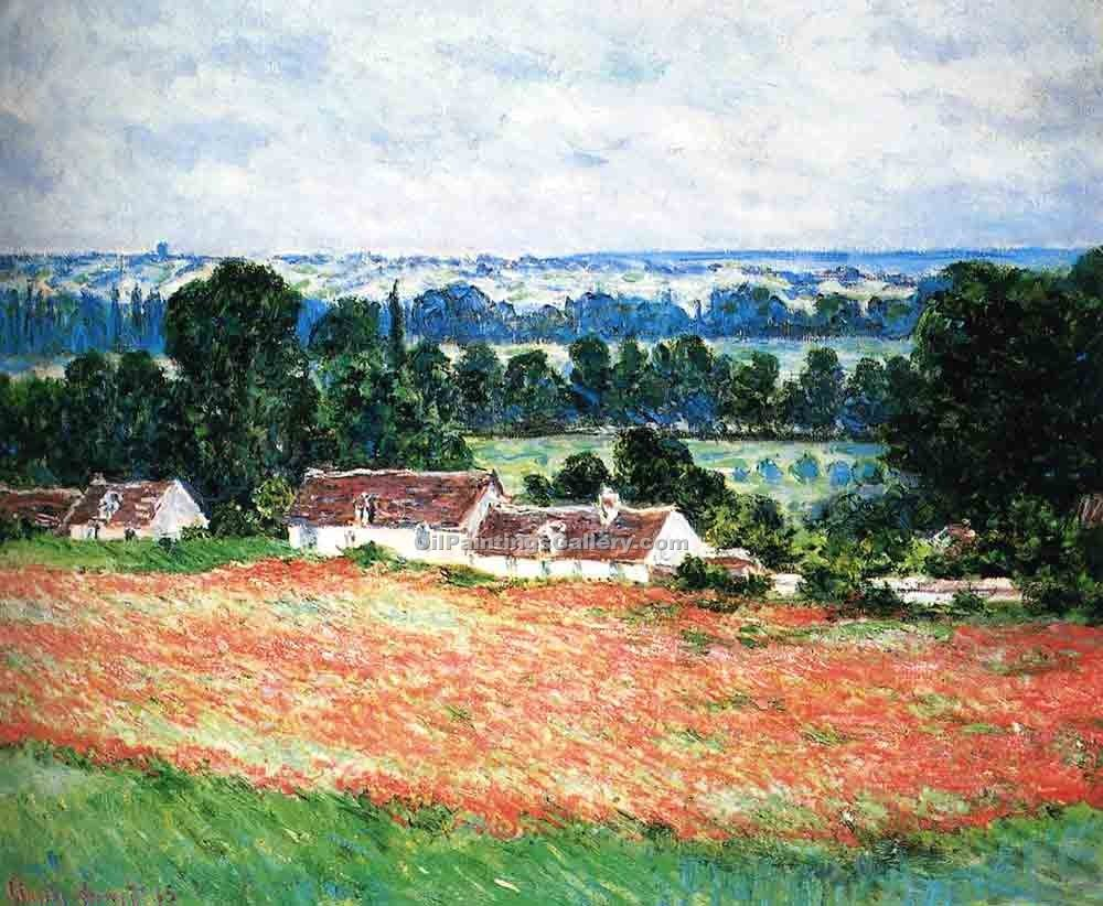 """Field of Poppies Giverny"" by  Claude Monet"