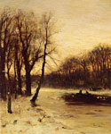 Figures in a Winter Landscape by  Louis Apol (Painting ID: LA-1708-KA)