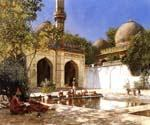 Figures in the Courtyard of a Mosque by  Edwin Lord Weeks (Painting ID: GE-1262-KA)
