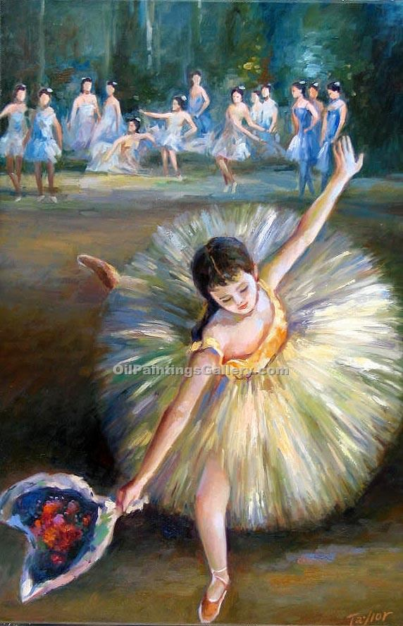 Fin d Arabesque by EdgarDegas | Original Paintings - Oil Paintings Gallery