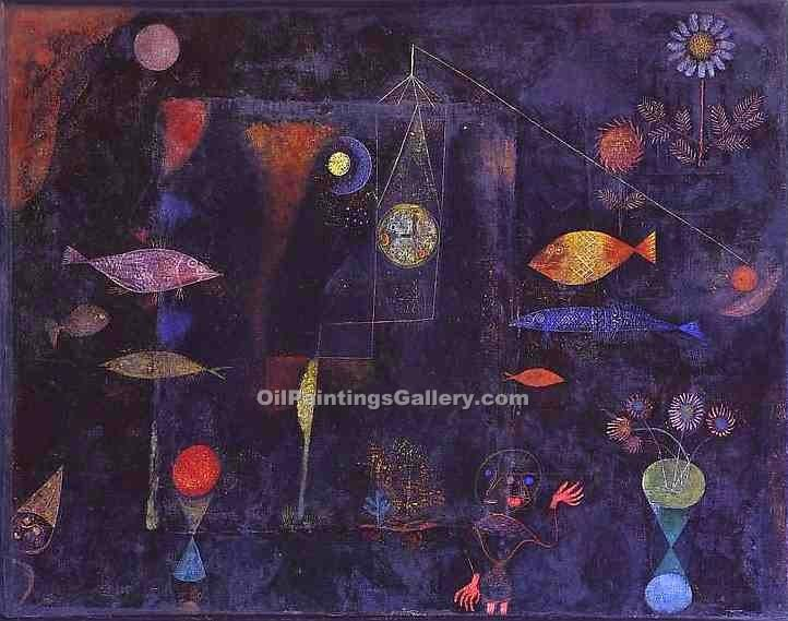 Fish Magic by Paul Klee | Oil On Canvas Painting - Oil Paintings Gallery
