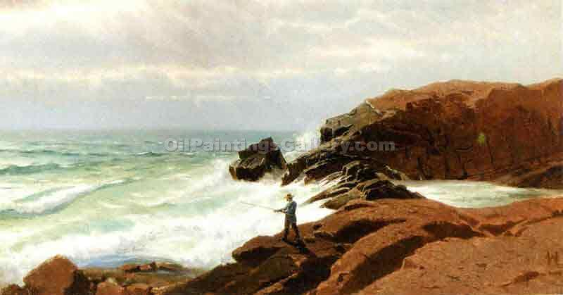 """Fisherman - Nahant"" by  William Stanley Haseltine"