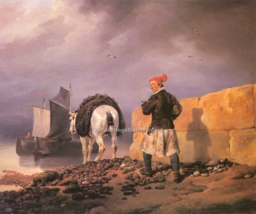 """Fisherman Setting Out"" by  Horace Vernet"